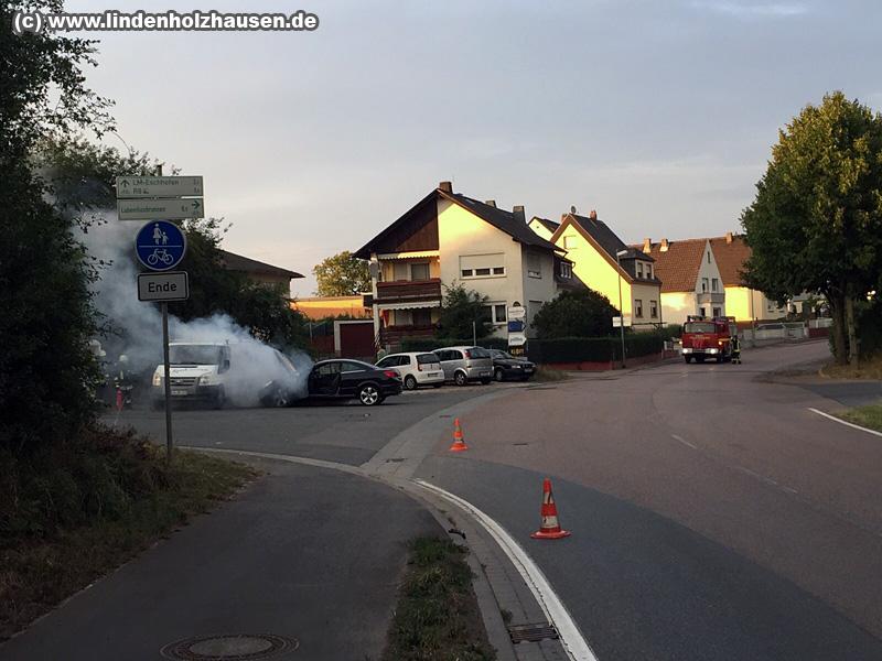 Übung FF Lindenholzhausen - VU am 14.08.2015